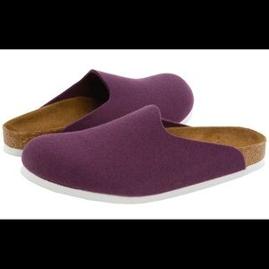 Birkenstock Shoes - Birkenstock Amsterdam Purple Wool Felt Loafers